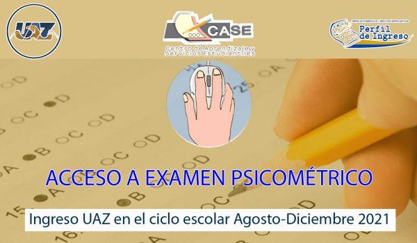 Perfil Ingreso 2021 ACCESO secundaria uaz